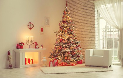 Christmas decor in houses