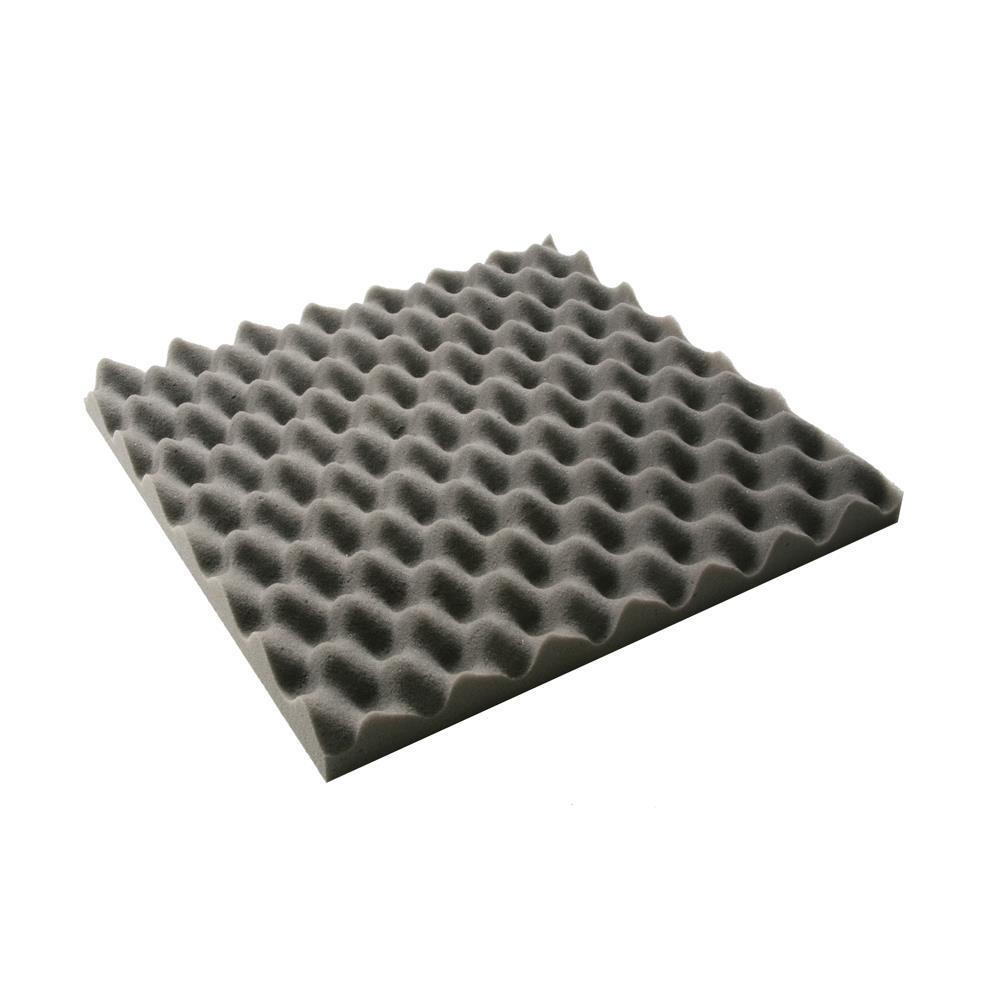 Schaumstoff noppenschaum Dämmung Akustik audio Schallschutz 100x200x3 cm Schwarz