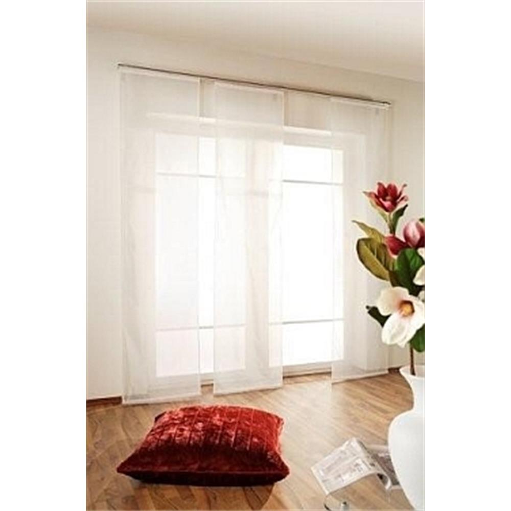 Schiebevorhang-Schiebegardine-transparent-inkl-Zubehoer-Flaechenvorhang-Gardine
