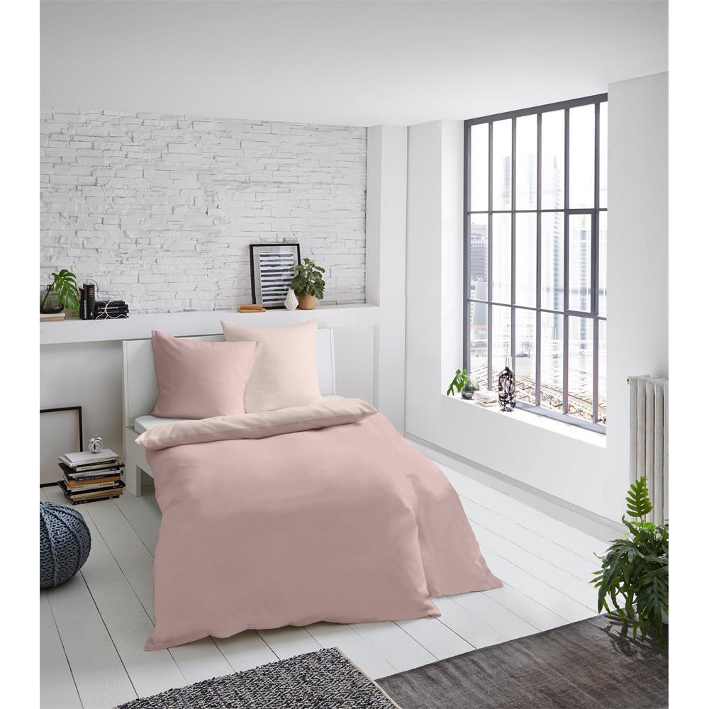 Bed Linen Melange Plain Rose 155x220 cm