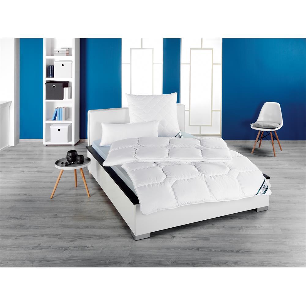 f a n kopfkissen gesteppt kansas klimafaser 40x80 cm kissen schlafkissen ebay. Black Bedroom Furniture Sets. Home Design Ideas
