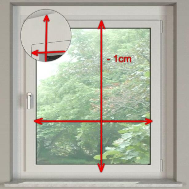 richtig ausmessen f r ein rollo. Black Bedroom Furniture Sets. Home Design Ideas