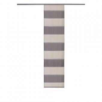 Flächenvorhang gestreift grau-beige