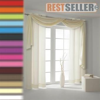 restseller24 querbehang voile. Black Bedroom Furniture Sets. Home Design Ideas