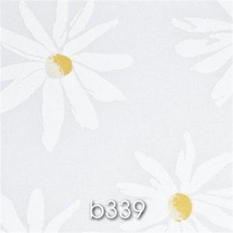 Flächenvorhang SMART b339 Blumen weiß