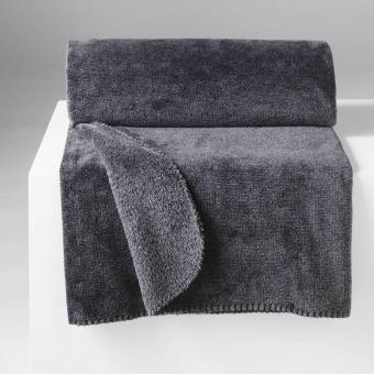 Decke melliert dunkelgrau