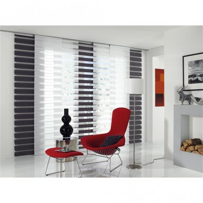 restseller24 fl chenvorhang day and night grau 60x245 cm. Black Bedroom Furniture Sets. Home Design Ideas