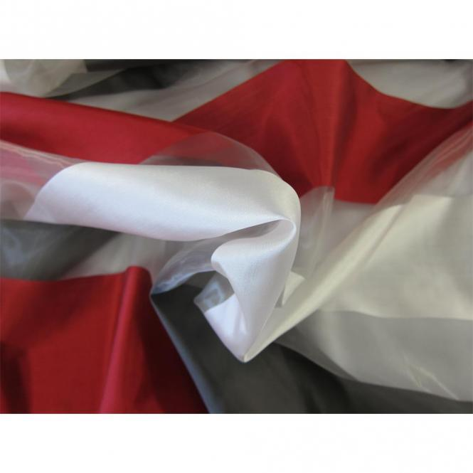restseller24 organza rot grau gestreift 300cm breit. Black Bedroom Furniture Sets. Home Design Ideas