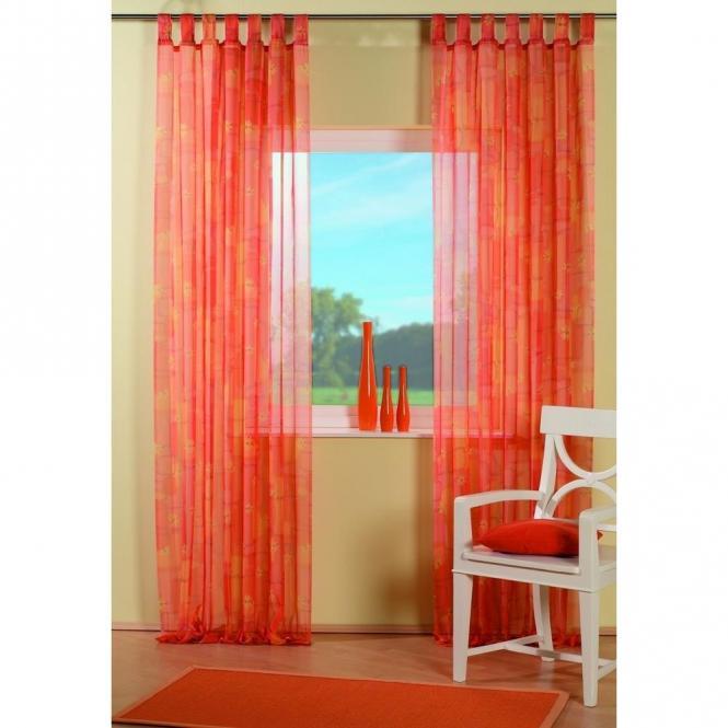 restseller24 schlaufenschal voile flower orange 140x245cm. Black Bedroom Furniture Sets. Home Design Ideas
