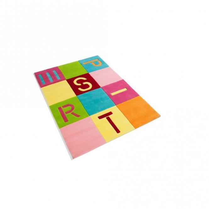 restseller24 handtuft teppich esprit bunte quadrate. Black Bedroom Furniture Sets. Home Design Ideas
