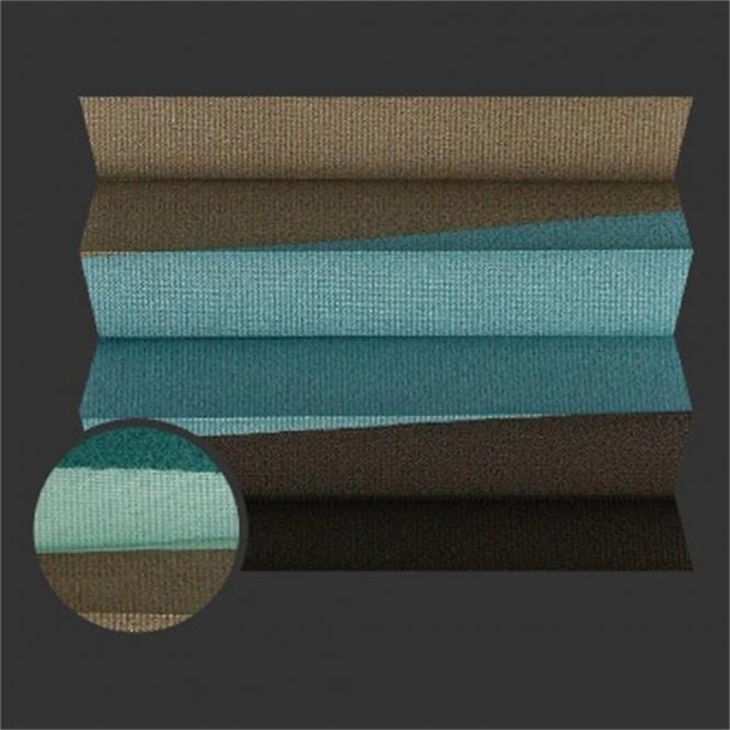restseller24 plissee be home vicenza 0782 gr n t rkis braun. Black Bedroom Furniture Sets. Home Design Ideas