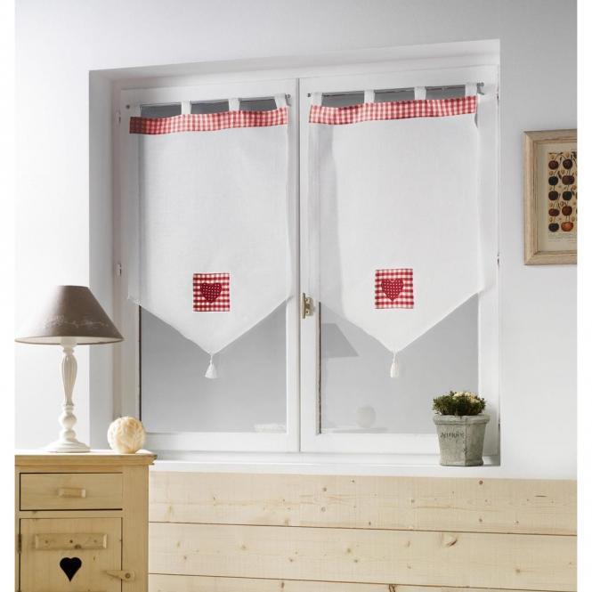 restseller24 scheibenh nger mont blanc wei rot 60 x 90 cm. Black Bedroom Furniture Sets. Home Design Ideas