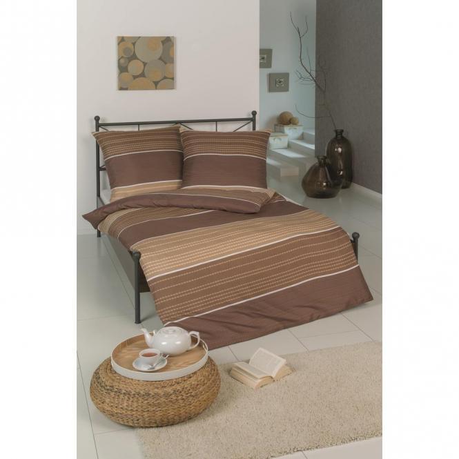 restseller24 bettw sche microfaser braun beige kette. Black Bedroom Furniture Sets. Home Design Ideas