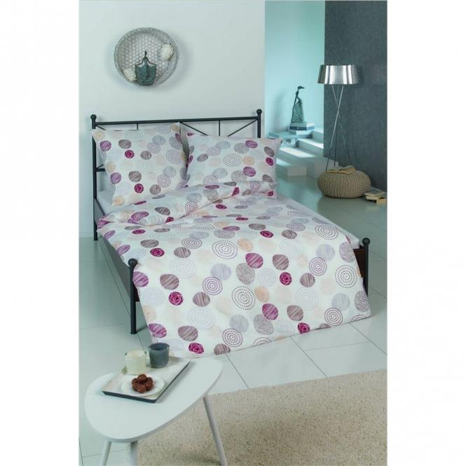 restseller24 bettw sche microfaser kreis weinrot. Black Bedroom Furniture Sets. Home Design Ideas