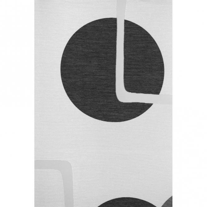 restseller24 fl chenvorhang schwarz wei mit retromuster. Black Bedroom Furniture Sets. Home Design Ideas