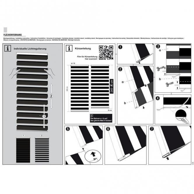 restseller24 fl chenvorhang day and night melange 60x245 cm. Black Bedroom Furniture Sets. Home Design Ideas