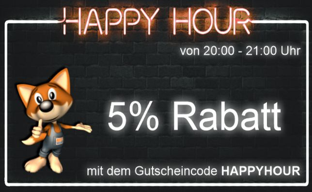 5% auf Alles Happy Hour
